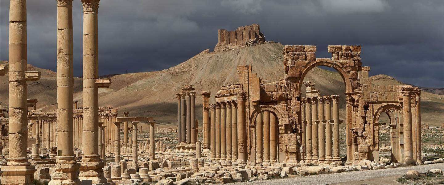 Palmyra, Syria: built 1st to the 2nd century, destroyed 2015. Photo from NBC news.